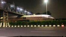 Air India Plane Wedged Between Footbridge And Motorway During Transportation