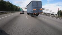 Lorry Driver Falls Asleep At Wheel And Tilts On Wheels On Either Side Before Overturning