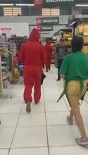 Cops Probe Pranksters Who Staged Fake Supermarket Robbery In Money Heist Outfits